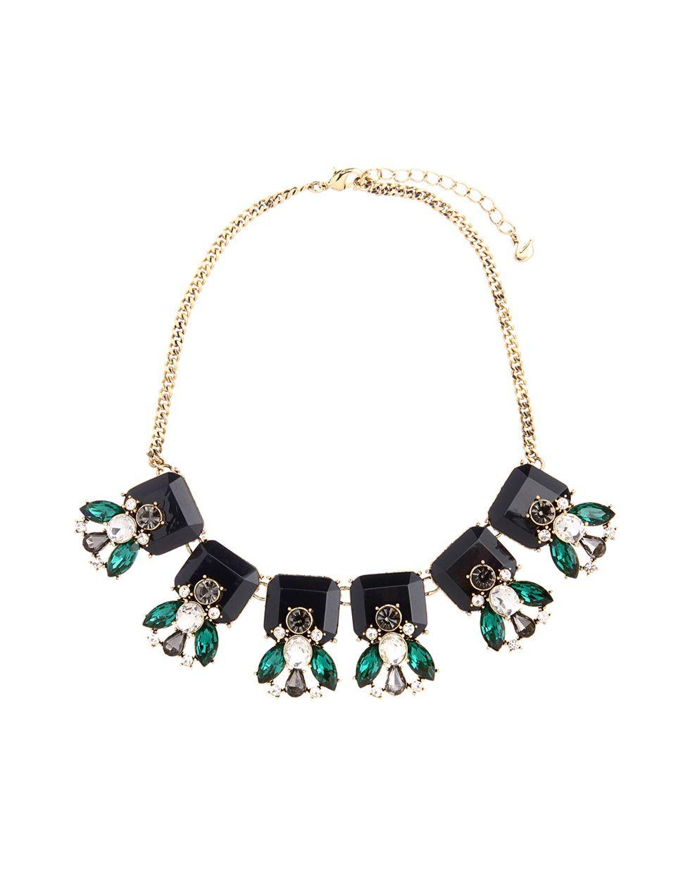 时尚亮钻装饰锁骨短款项链