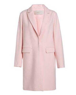 翻领纯色宽松中长外套