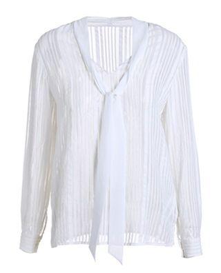 蚕丝提花薄款条纹衬衫