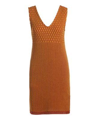 针织无袖连衣裙