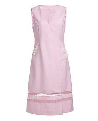 透视精纺呢连衣裙