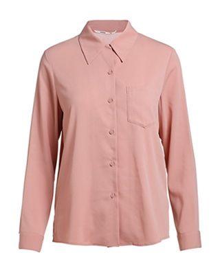 纯色雪纺翻领长袖衬衫