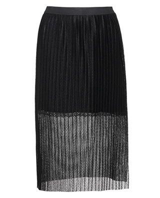 两件套百褶开叉半身裙