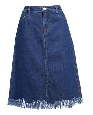 棉质A字牛仔裙半身裙
