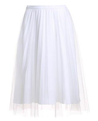 高腰A字百褶半身中裙