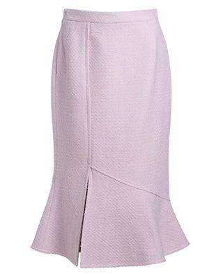 高腰毛呢鱼尾裙半身裙