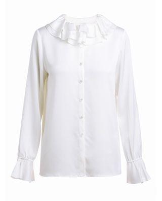 荷叶边喇叭袖衬衫