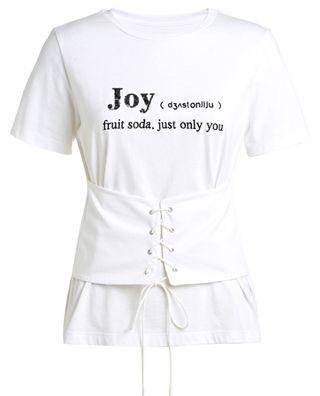 刺绣绑带短袖T恤