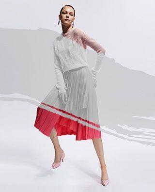 羊皮革铆钉低跟鞋