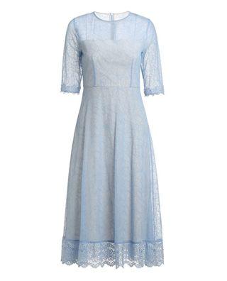 中长蕾丝连衣裙