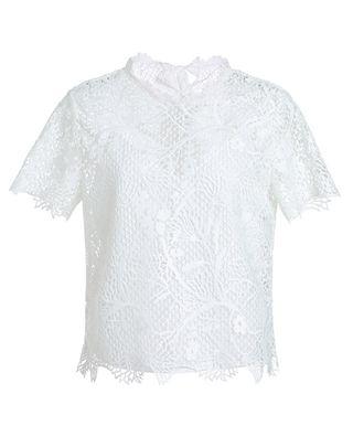 绑带蕾丝衬衫套装