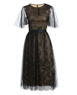 蕾丝网纱连衣裙