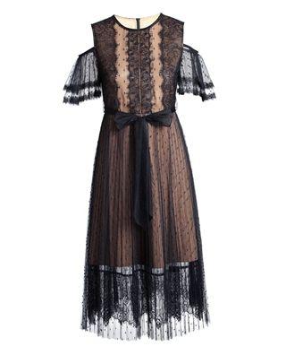 波點網布連衣裙