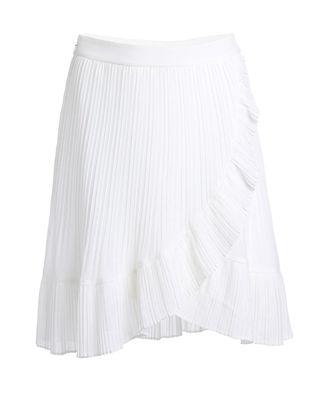 荷叶边雪纺半身裙