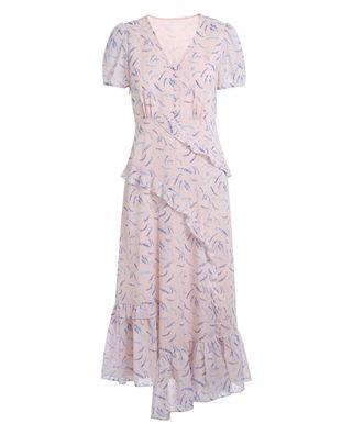 印花雪纺连衣裙