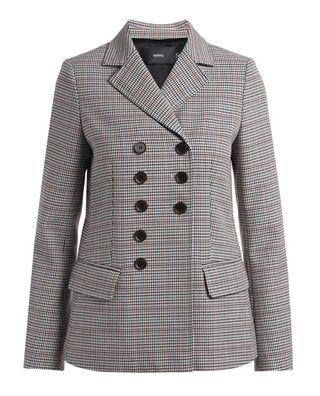 格紋排扣西裝外套