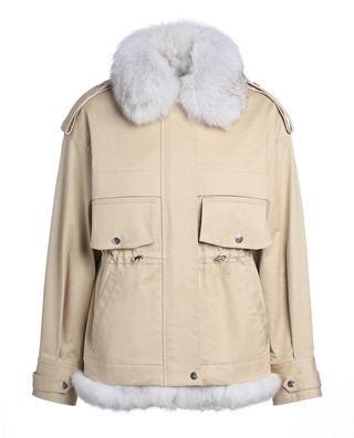 狐貍毛條外套套裝