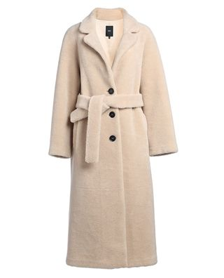 腰帶排扣羊毛大衣