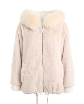 毛領兔毛棉衣外套
