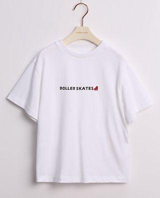 純色字母印花短袖T恤