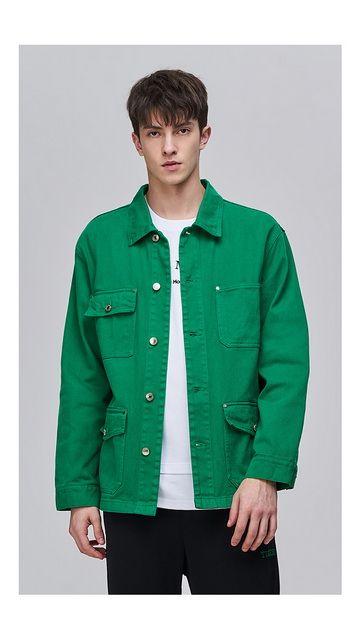 【一口价】纯棉翻领夹克工装外套