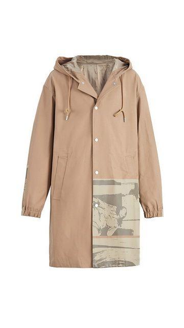 【低至2折】棉质连帽风衣开衫外套