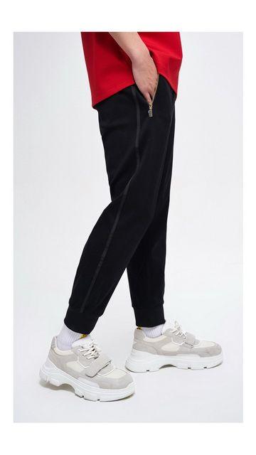 【一口价】字母棉质休闲裤修身