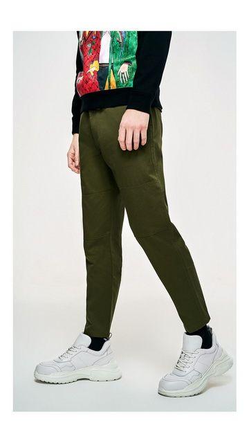 【一口价】纯棉拉链开叉休闲裤