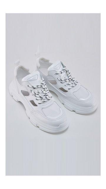 拼接运动休闲系带鞋子
