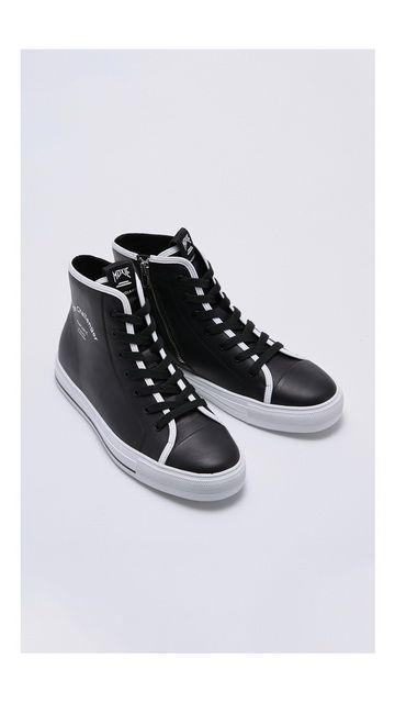 时尚拼接系带休闲鞋