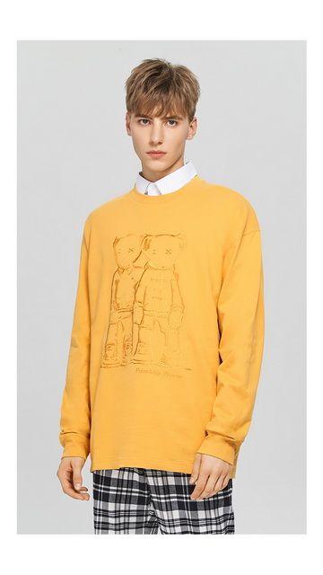 【2件9折 3件8折】棉质中长宽松长袖T恤男