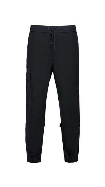 棉质束脚直筒休闲裤子