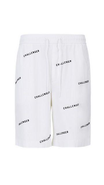 弹力棉质直筒字母短裤