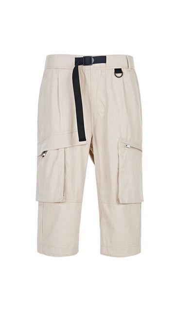 纯棉阔腿工装裤七分裤