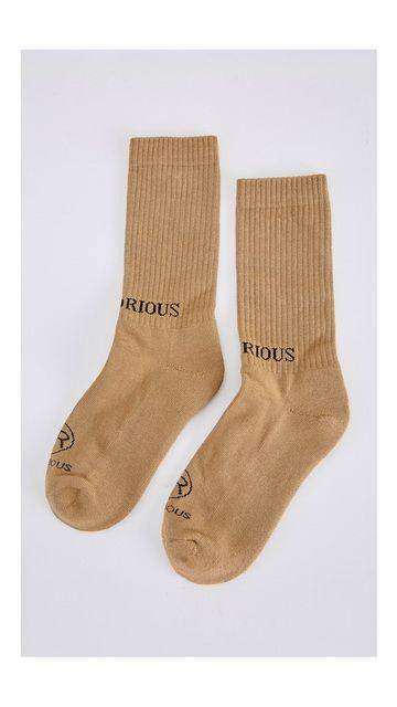 字母休闲长袜棉质袜子