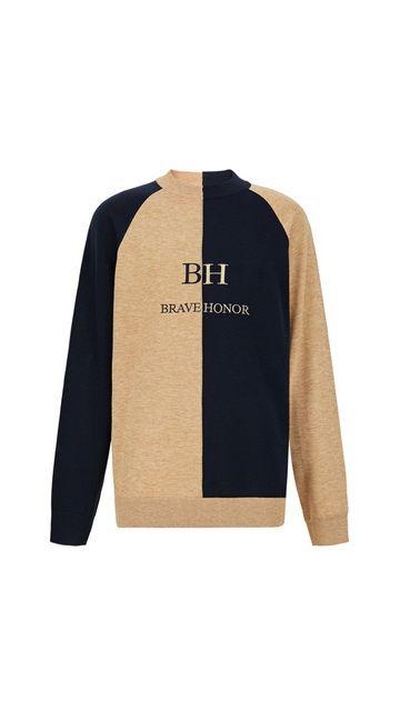 字母拼接毛衣撞色毛衣