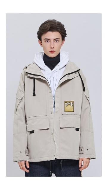 【低至2折】章仔中长连帽风衣外套