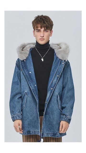 【2件9折 3件8折】中长棉质牛仔夹绒棉衣