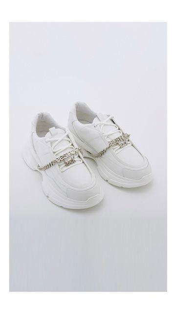 【精选货品】锁链配饰系带老爹鞋
