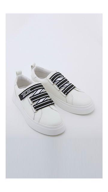 【精选货品】休闲鞋条纹魔术贴板鞋
