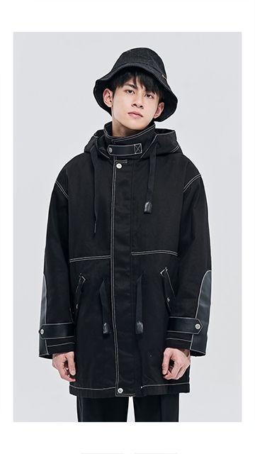 【精选货品】中长款连帽棉质棉衣男