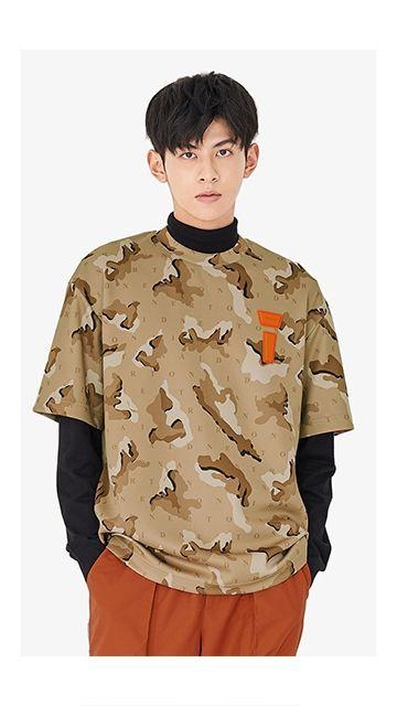 上衣迷彩圆领短袖T恤男