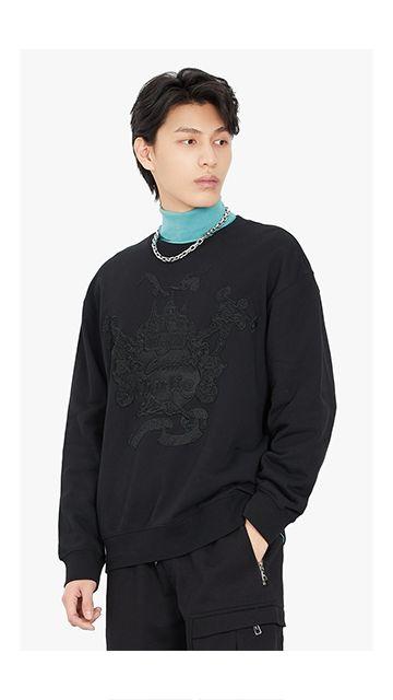 【精选货品】棉质绣花章仔卫衣男