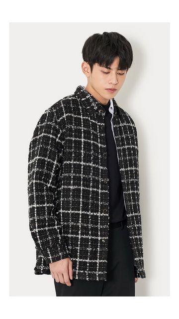 【精选货品】衬衣格纹衬衫外套男
