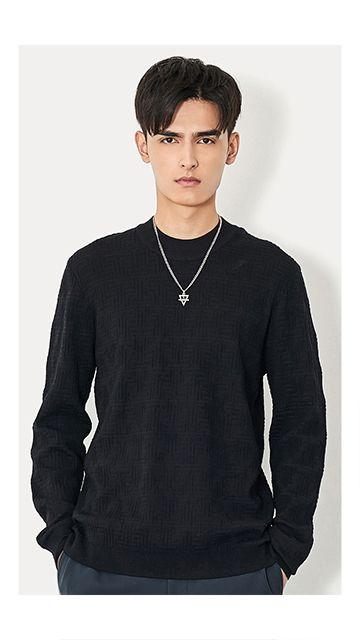 【精选货品】羊毛针织衫长袖毛衣男
