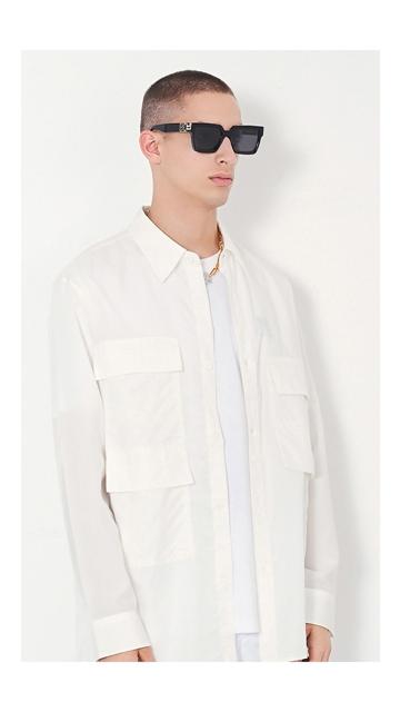 【精选货品】衬衣翻领工装衬衫男士