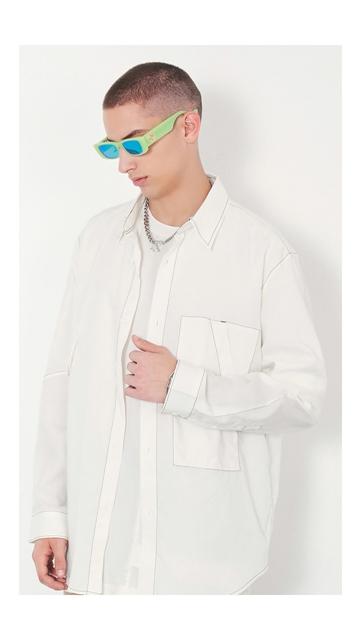 【精选货品】衬衣翻领长袖衬衫男士