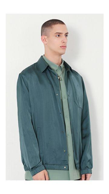 【精选货品】纯色休闲翻领夹克外套