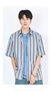 【精选货品】衬衣条纹短袖棉衬衫男