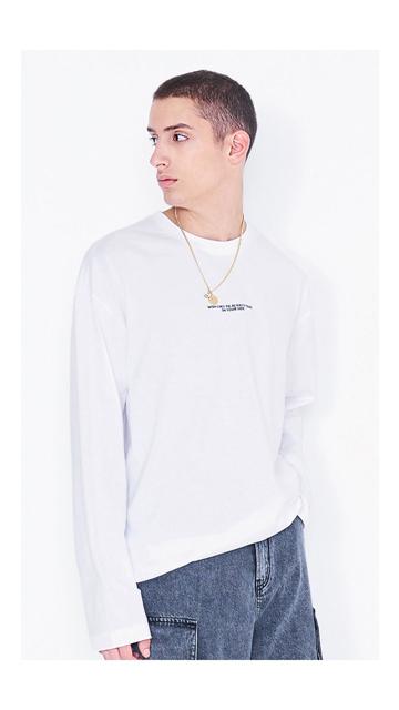 【精选货品】t恤刺绣纯棉长袖T恤男